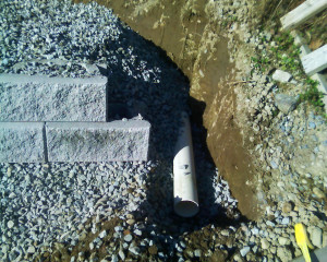 Hare Retaining wall repairing process image - underground water control