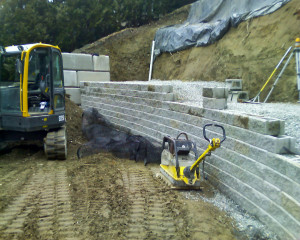 Hare Retaining wall repairing process image